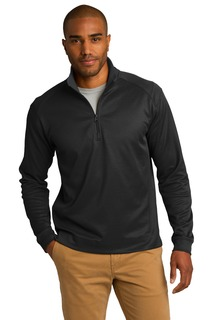Port Authority® Vertical Texture 1/4-Zip Pullover.