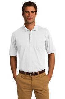 Port & Company® 5.5-Ounce Jersey Knit Pocket Polo.-Port & Company