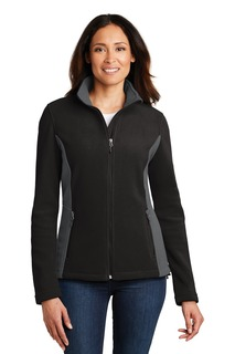 Port Authority® Ladies Colorblock Value Fleece Jacket.-