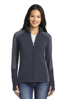 Port Authority® Ladies Colorblock Microfleece Jacket.-