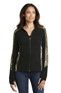 Port Authority® Ladies Camouflage Microfleece Full-Zip Jacket.-Port Authority