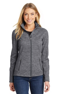 Port Authority Ladies Outerwear Sweatshirts & Fleece for Hospitality ® Ladies Digi Stripe Fleece Jacket.-Port Authority