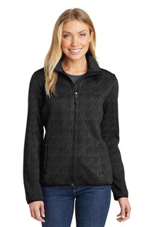 Port Authority® Sweater Fleece Jacket.-Port Authority