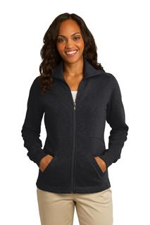 Port Authority® Ladies Slub Fleece Full-Zip Jacket.-Port Authority
