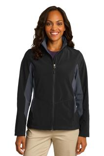 Port Authority® Ladies Core Colorblock Soft Shell Jacket.-
