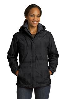 Port Authority® Ladies Brushstroke Print Insulated Jacket.-