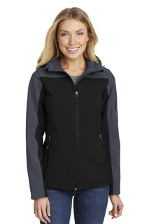 Port Authority® Ladies Hooded Core Soft Shell Jacket.-