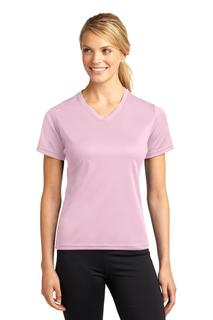 Sport-Tek Dri-Mesh Ladies V-Neck T-Shirt.