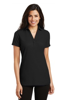 Port Authority® Ladies Silk Touch Y-Neck Polo.-Port Authority