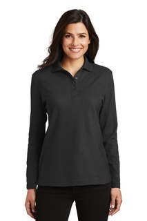 Port Authority® Ladies Silk Touch Long Sleeve Polo.-Port Authority