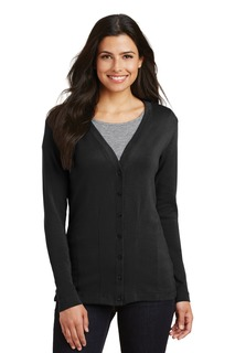 Port Authority® Ladies Modern Stretch Cotton Cardigan.-Port Authority