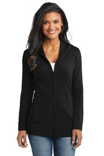 Port Authority® Ladies Modern Stretch Cotton Full-Zip Jacket.-Port Authority