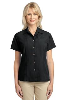 Port Authority® Ladies Patterned Easy Care Camp Shirt.-Port Authority