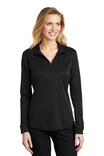 Port Authority ® Ladies Silk Touch Performance Long Sleeve Polo.