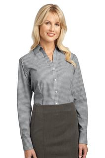Port Authority® Ladies Plaid Pattern Easy Care Shirt.-Port Authority