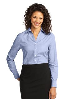 Port Authority® Ladies Crosshatch Easy Care Shirt.-Port Authority