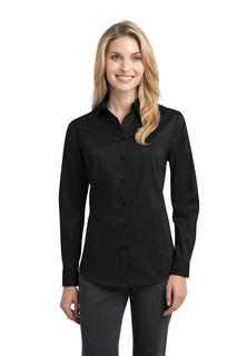 Port Authority® Ladies Stretch Poplin Shirt.-Port Authority