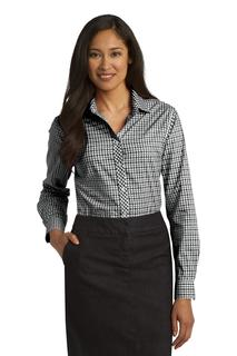 Port Authority® Ladies Long Sleeve Gingham Easy Care Shirt.-Port Authority