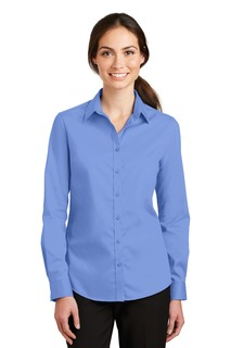 Port Authority Ladies Woven Shirts for Hospitality- ® Ladies SuperPro Twill Shirt.-Port Authority
