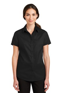 Port Authority® Ladies Short Sleeve SuperPro Twill Shirt.-Port Authority