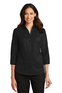 Port Authority® Ladies 3/4-Sleeve SuperPro Twill Shirt.-Port Authority