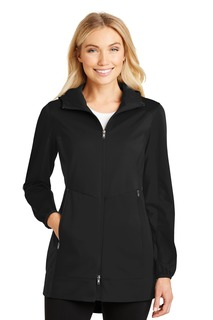 Port Authority® Ladies Active Hooded Soft Shell Jacket.