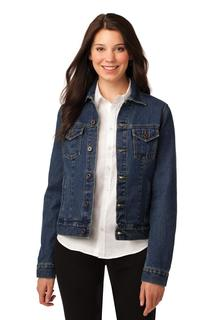 Port Authority Ladies Outerwear for Hospitality ® Ladies Denim Jacket.-Port Authority