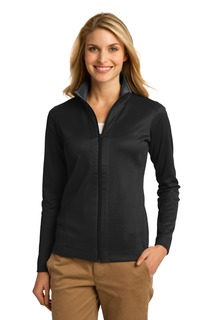 Port Authority® Ladies Vertical Texture Full-Zip Jacket.-Port Authority