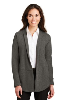 Port Authority® Ladies Interlock Cardigan.-Port Authority