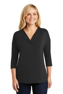 Port Authority® Ladies Concept 3/4-Sleeve Soft Split Neck Top.-