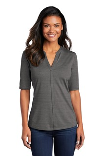 Port Authority Stretch Heather Open Neck Top-