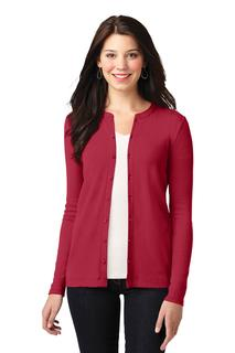 Port Authority Concept Stretch Button-Front Cardigan.-