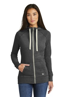 New Era ® Ladies Sueded Cotton Blend Full-Zip Hoodie.-New Era