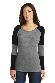 New Era ® Ladies Tri-Blend Performance Baseball Tee.-