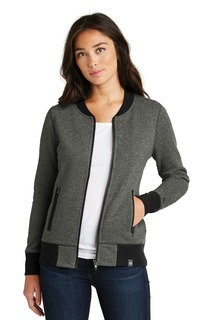 New Era ® Ladies French Terry Baseball Full-Zip.-New Era