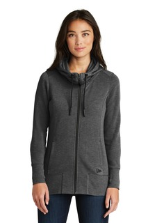 New Era ® Ladies Tri-Blend Fleece Full-Zip Hoodie.-New Era