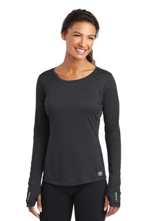 OGIO® ENDURANCE Ladies Long Sleeve Pulse Crew.-