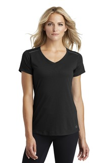 OGIO ® ENDURANCE Ladies Peak V-Neck Tee.-