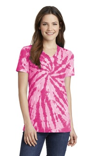 Port & Company® Ladies Tie-Dye V-Neck Tee.