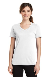 Port & Company® Ladies Performance Blend V-Neck Tee.-Port & Company