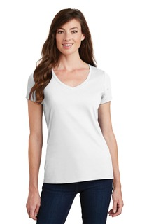 Port & Company® Ladies Fan Favorite V-Neck Tee.-