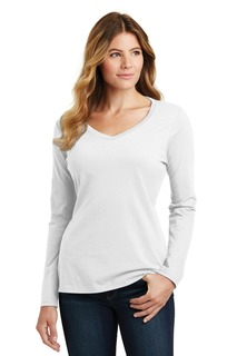 Port & Company® Long Sleeve Fan Favorite V-Neck Tee.-