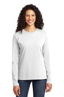 Port & Company® Ladies Long Sleeve Core Cotton Tee.-Port & Company