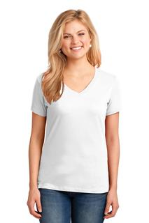 Port & Company® Ladies Core Cotton V-Neck Tee.-Port & Company