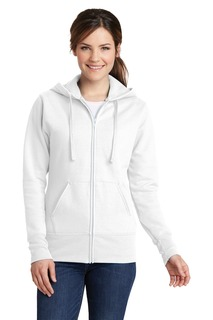 Port & Company® Ladies Core Fleece Full-Zip Hooded Sweatshirt.-