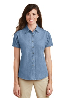Port & Company® - Ladies Short Sleeve Value Denim Shirt.-