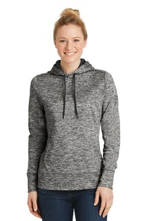 Sport-Tek® Ladies PosiCharge® Electric Heather Fleece Hooded Pullover.-