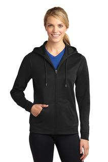 Sport-Tek® Ladies Sport-Wick® Fleece Full-Zip Hooded Jacket.-