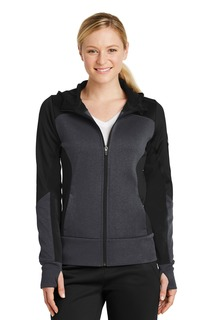 Sport-Tek Corporate Hospitality Ladies Sweatshirts & Fleece ® Ladies Tech Fleece Colorblock Full-Zip Hooded Jacket.-Sport-Tek