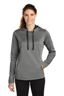 Sport-Tek ® Ladies PosiCharge ® Sport-Wick ® Heather Fleece Hooded Pullover.-
